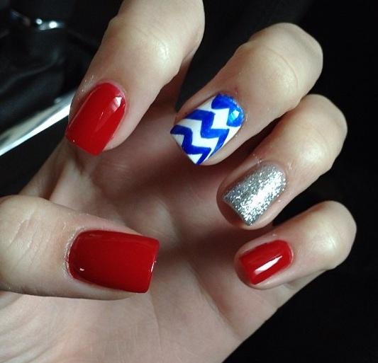 Forth of July nails! #FourthOfJuly #NailArt #Nails