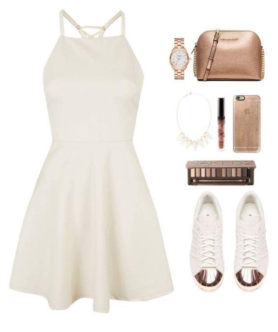 ee248c30ca6 Conheça Dicas Incríveis de como usar Tênis Branco com vestido ...