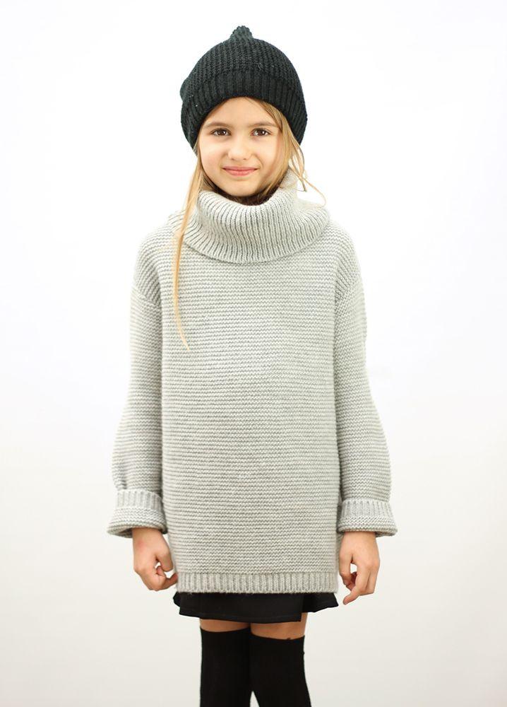 Knitted Basic Sweater Grey #motoreta #kids AW14 #lookbook