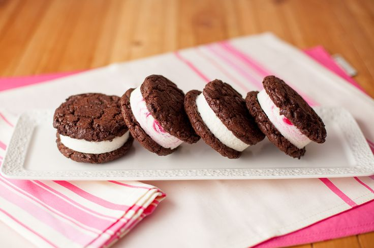 Double Choc Chip Ice Cream Sandwiches from www.ilovecooking.ie get full recipe here http://www.ilovecooking.ie/recipe/double-chocolate-chip-ice-cream-sandwiches/