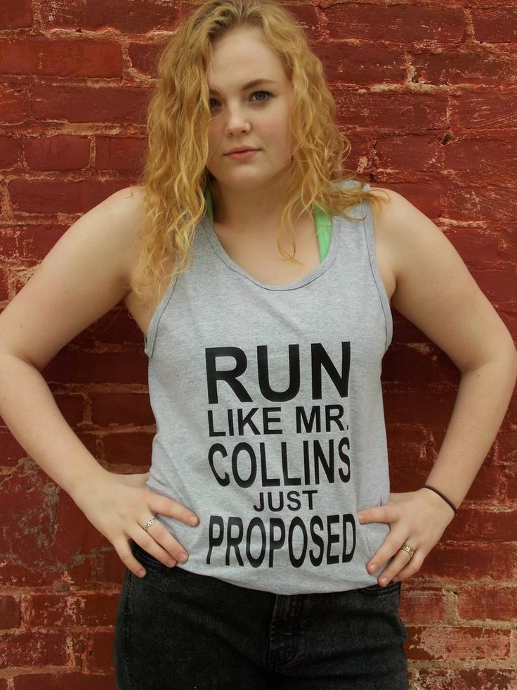 Pride and Prejudice Mr. Collins Proposal Tank Top. Jane Austen Run Like Mr. Collins Just Proposed Tank Top.