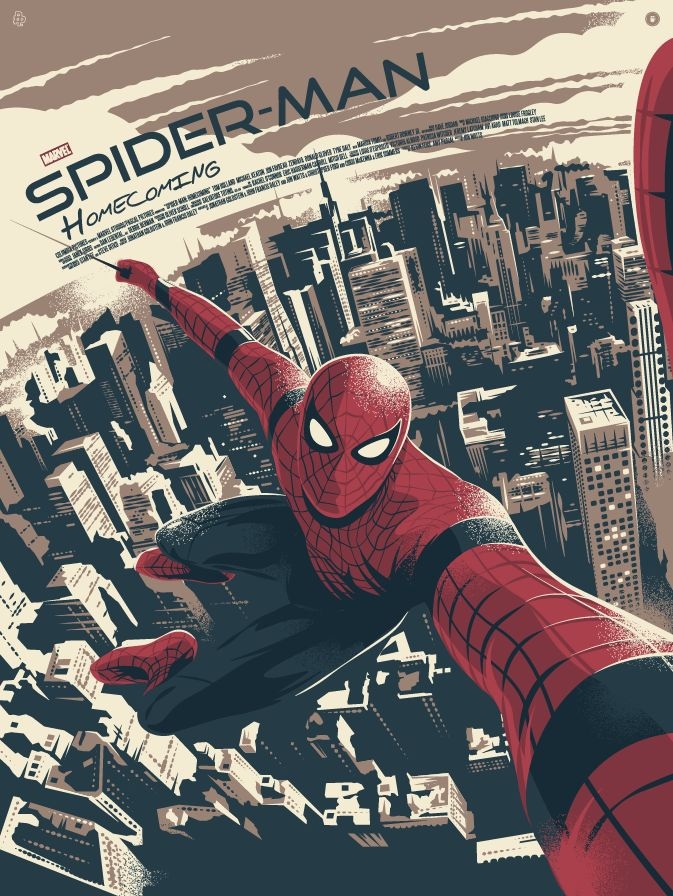 Spider-Man: Homecoming poster by Thomas Walker (@tommypocket)