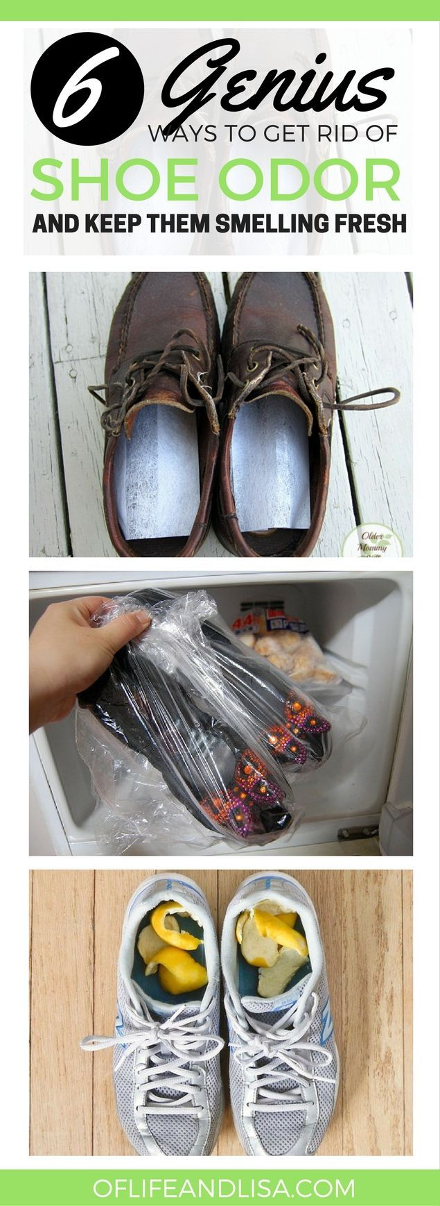 Make your stinky shoes smell like new again with these simple hacks! #home #cleaning #shoes