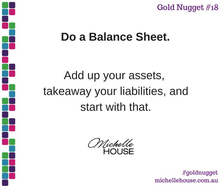 Do a Balance Sheet. Add up your assets, takeaway your liabilities, and start with that.