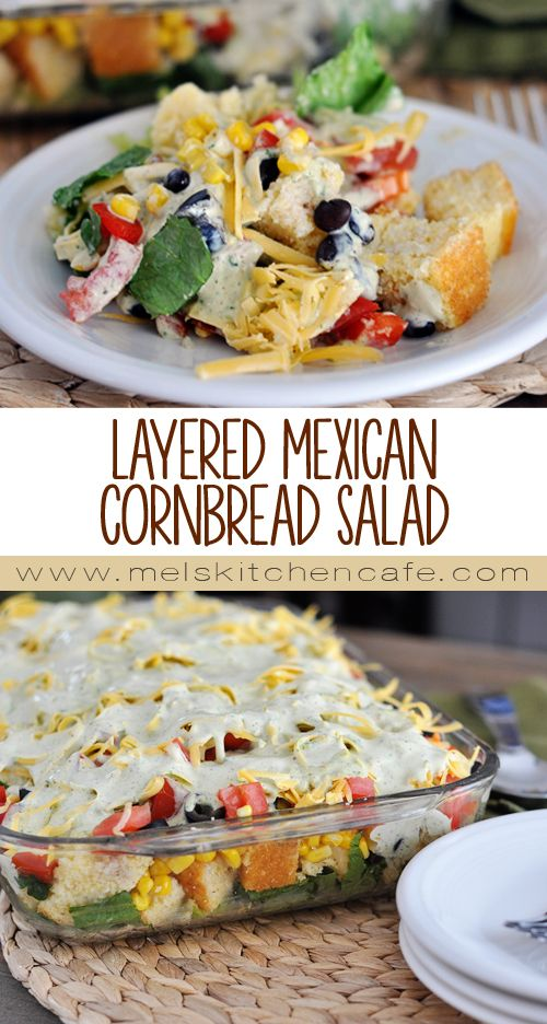 This Layered Mexican Cornbread Salad is light and refreshing but still dazzlingly yummy.