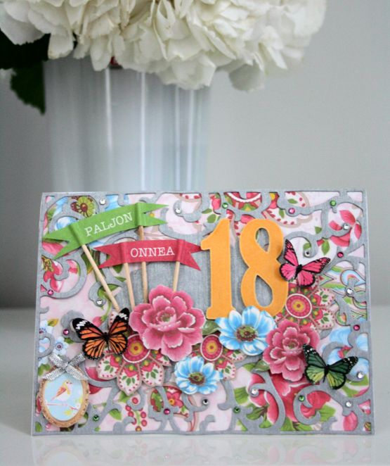 Onnittelukortti 18-vuotiaalle / Greeting Card for 18th birthday