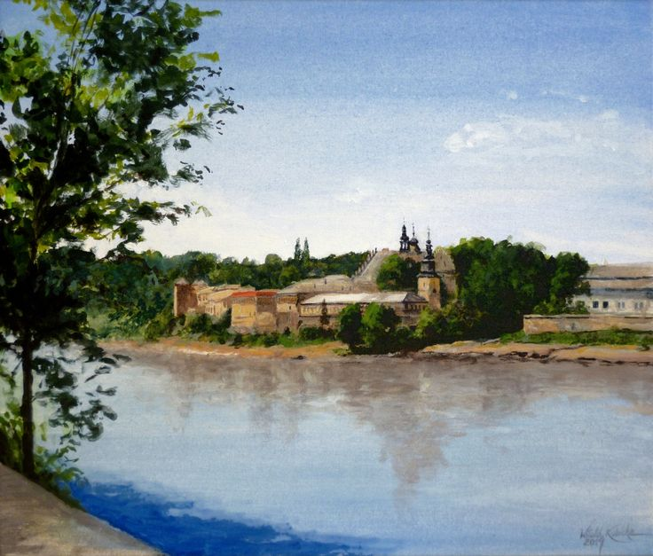 Monastery in Salwator in Krakow. Oil on canvas. Author: Witold Kubicha