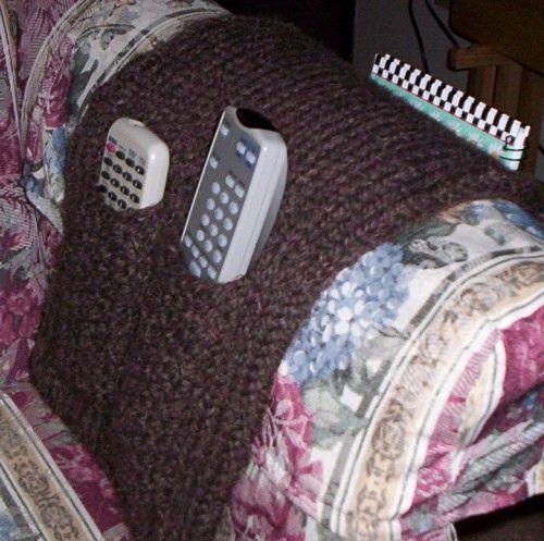 Arm Chair Caddy: Loom Knitting Pattern