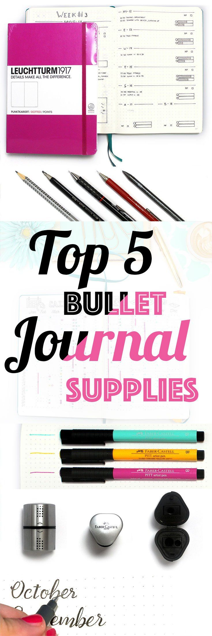 With those Top 5 Bullet Journal Supplies & armed with your creative mind, you can create the most wonderful bullet journal there is!