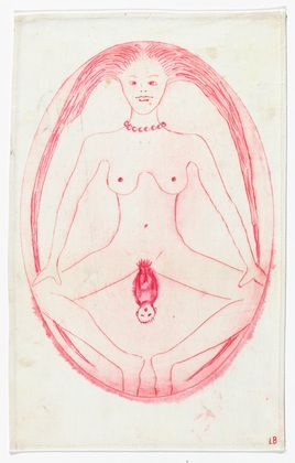 Louise Bourgeois, Cross-Eyed Woman Giving Birth, 2005.