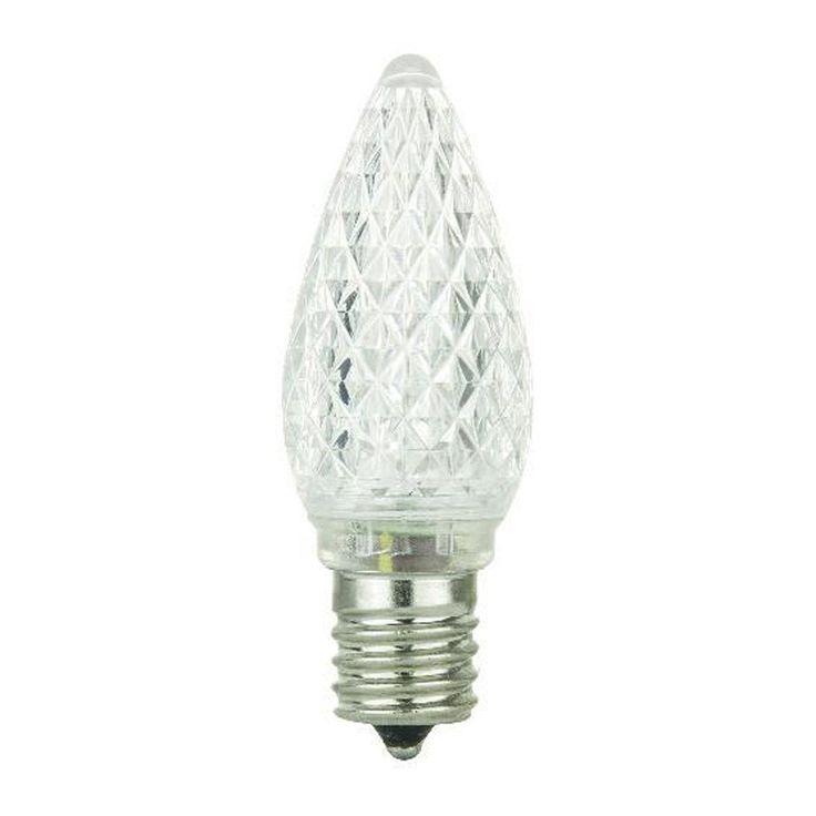 SUNLITE 0.4W 120V E17 C9 LED White Light Bulb x 6 Pieces