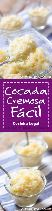 Cocada cremosa com leite condensado