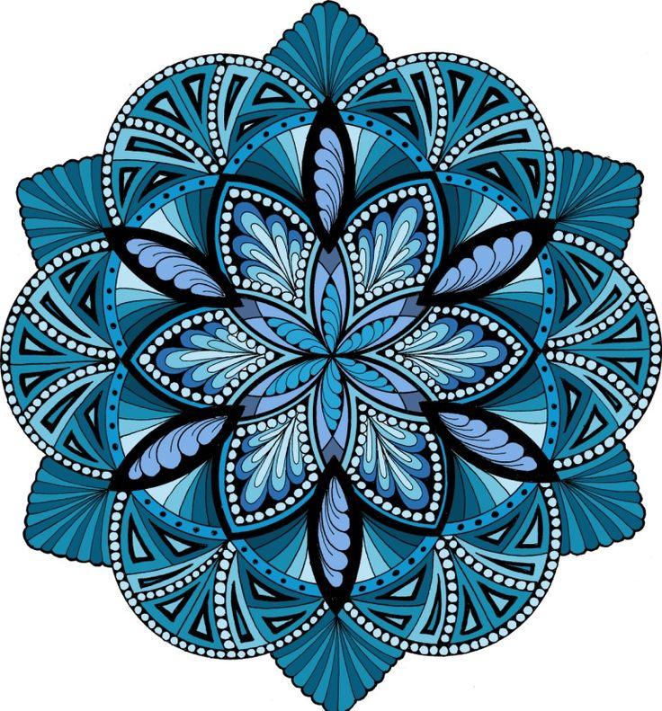 Energize It - Ocean   Mandala hand drawn and digitally color…   Jane Snedden Peever   Flickr