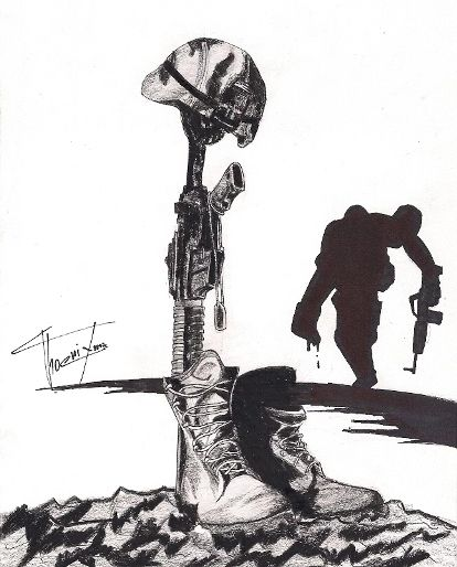 Fallen Soldier Drawing Soldier fallen by preceleq320