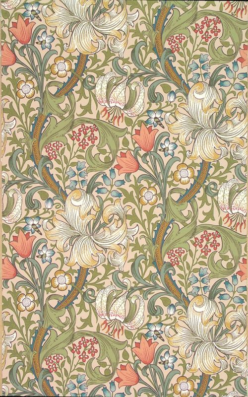 Tapet 81124: Golden Lily Pale Biscuit från William Morris & Co - Tapetorama