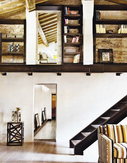 Loft Apartment within restored Palazzo, Florence. Photo Bernard Touillon