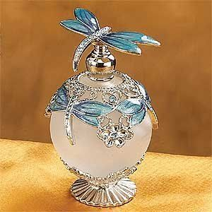 Dragonfly Crystal Perfume Bottle