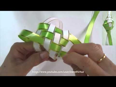 TUTORIAL - How to weave a ketupat casing - YouTube