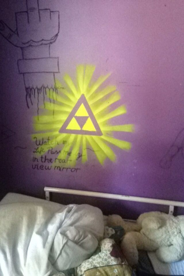 Triforce I made it on my room   Because I love Zelda