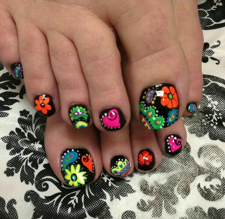 Mejores 7 imágenes de Uñas de pies en Pinterest   Diseño de uñas ...