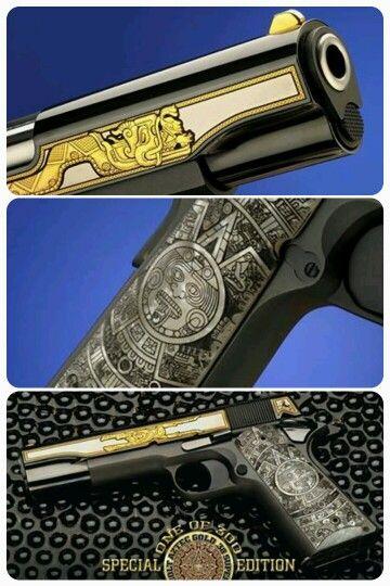 "Custom Colt 1911 ""Aztec Gold"" by Talo. (.38 Super) #124 of 300"