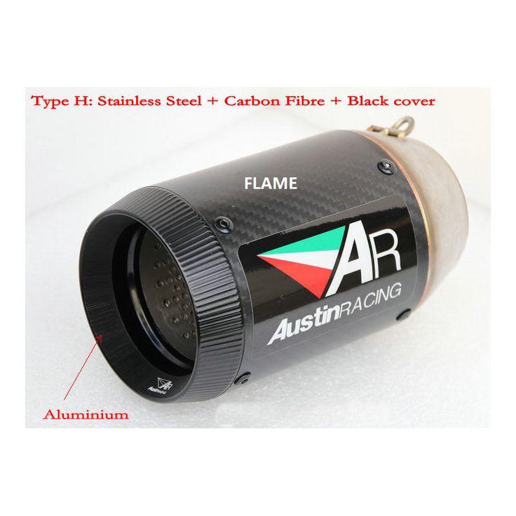 New AR gp exhaust stainless aluminium ponteiras de escape carbon exhaust tip muffler cbr fz8 msx 125 z1000 yoshimura exhaust