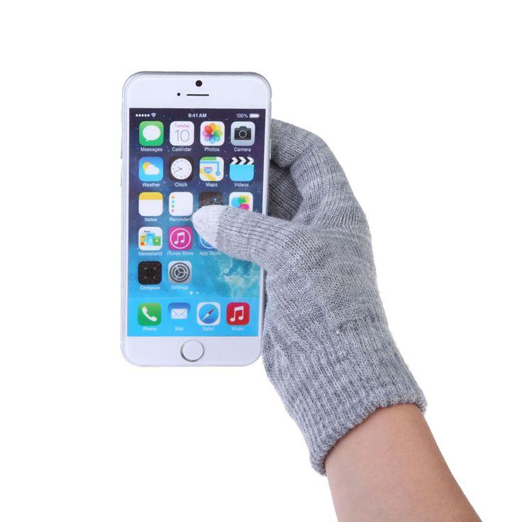 Unisex Männer/Frauen Mode Touchscreen Weicher Baumwolle Winter Handschuhe Texting Outdoor Kapazitiven Wärmer Smartphones 10 Farben Geschenk
