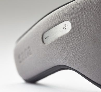 leManoosh Aluminum Button Cable Management Comfort Embossed / Debossed Grey mask Rounded Soft Textile / Fabric