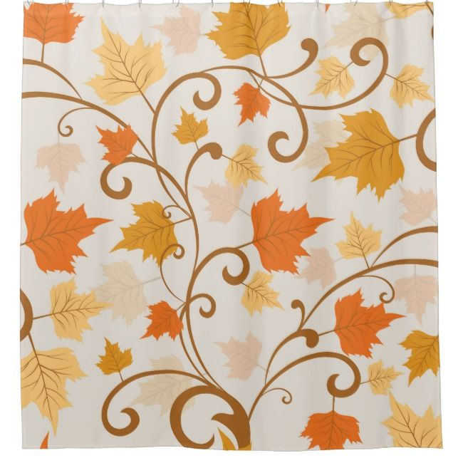 Traditional Autumn Falling Leaves Shower Curtain Zazzle Com