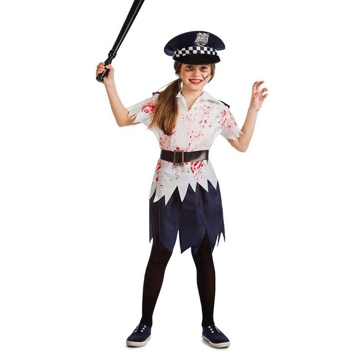 Déguisement Policière Zombie Enfant #déguisementsenfants #costumespetitsenfants #nouveauté2016