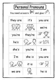 Personal pronouns and verb to be
