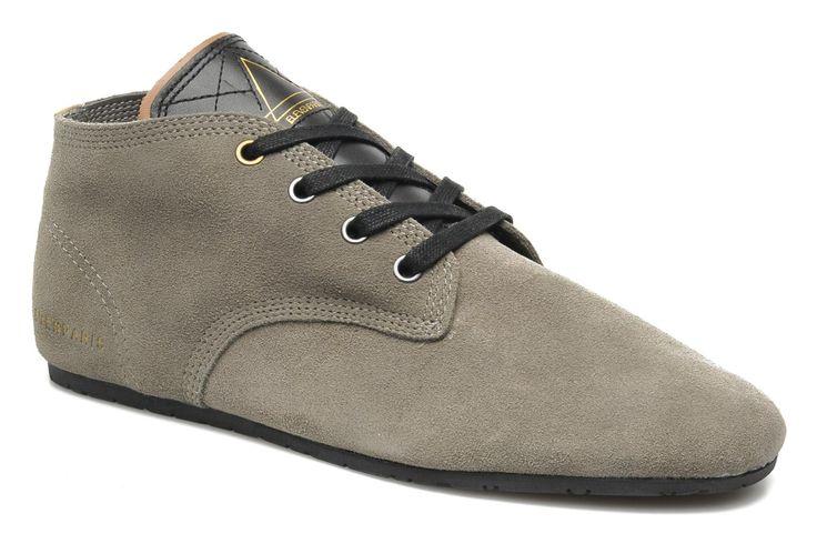 Eleven paris Basic Colors Suede H (Marron) - Chaussures à lacets chez Sarenza (194259)