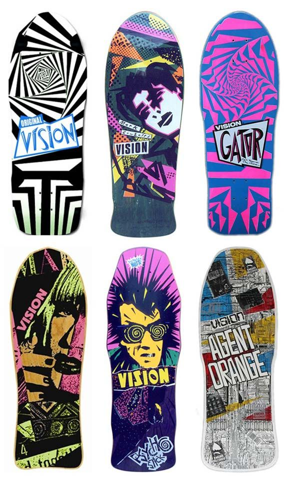 80s skateboard art  I had top left... school daze