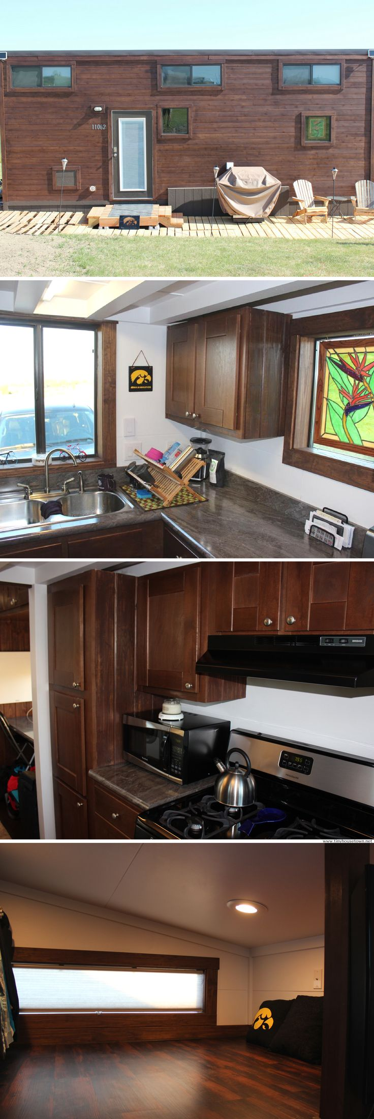 The Morrison: a 300 sq ft tiny house with two bedrooms