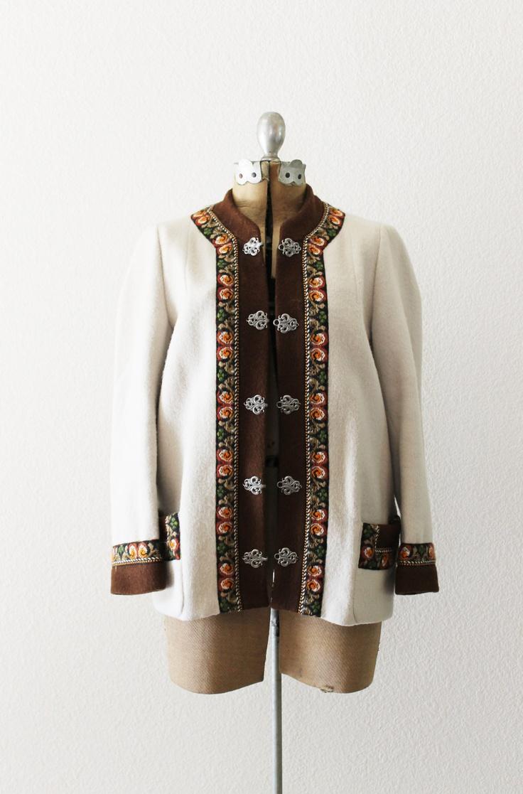 Vintage 1950's Norwegian Wool Folk Sweater. $70.00, via Etsy.