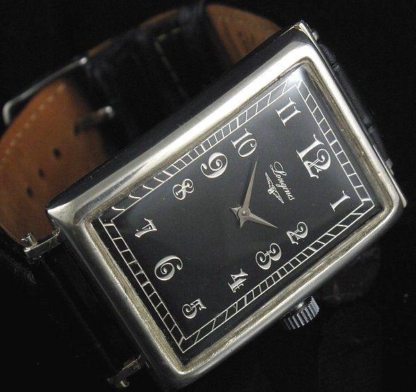 OH済み【Longines - ロンジン】アンティークデザインスクエアメンズ腕時計 - アンティーク腕時計のfreemen~オメガやロンジン等の腕時計通販販売