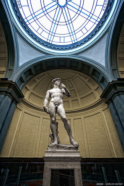 """Michelangelo, """"David"""" Carrara Marble (1504) Galleria dell'Accademia (the real one) - Florence, Italy"""