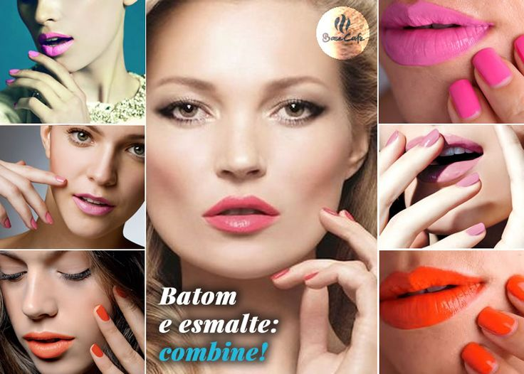 Usar lábios e unhas coloridos com tons parecidos deixa o look super harmonioso. Quem quiser fazer a dupla esmaltes e batons se destacar no look, pode se inspirar já!