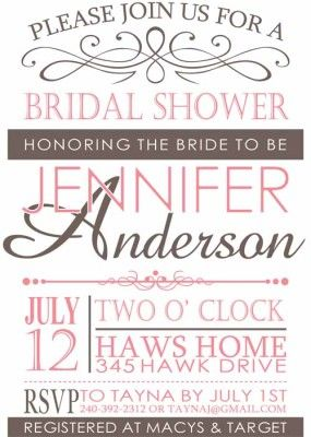 Best 75 Bridal Shower Invitations images on Pinterest Wedding