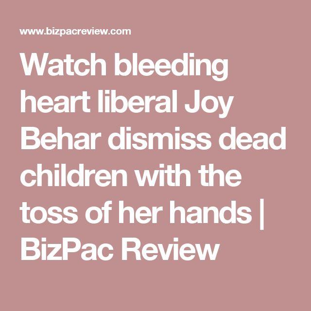 Watch bleeding heart liberal Joy Behar dismiss dead children with the toss of her hands | BizPac Review