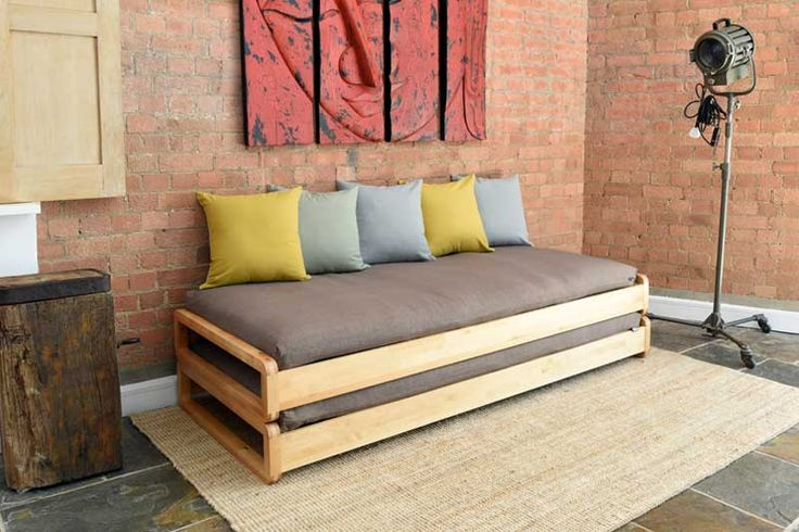 Home :: Sofa Beds :: Day Beds :: Solid Birch Loop Stacking Bed