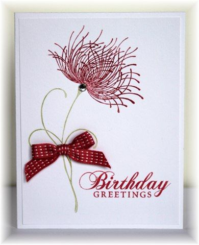 The card - flower stamp is from Penny Black, sentiment is Hero Arts.  Colors are primrose and white.