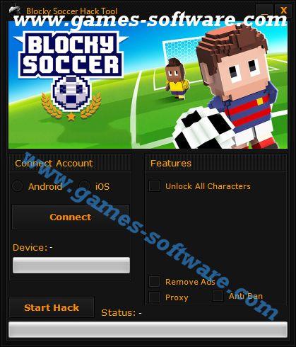 Blocky Soccer Hack Tool