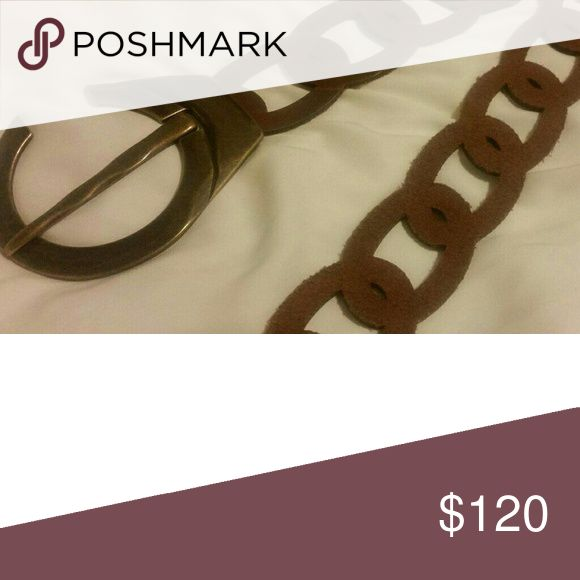 Suzi Roher Contour Belt in Brown New without tags. Never worn and in perfect condition!  Brown leather contour belt featuring an oversized buckle. Suzi Roher Other