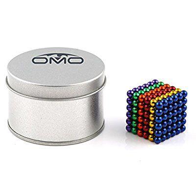 OMO 216 magnet kugel würfel Ø 5,0 mm Neodym vernickelt N42 - hält 400 g (Bunt)
