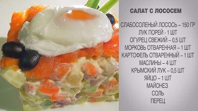 Вкусные домашние рецепты:  Салат из лосося / Салат с лососем / Салат с лосос...