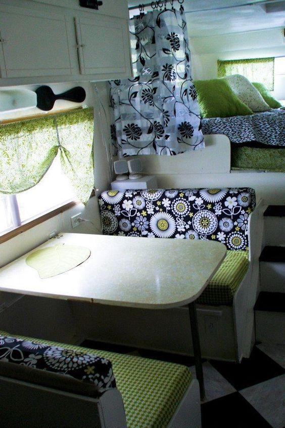 2066 besten camping vintage trailers bilder auf for Wohnmobil innendesign