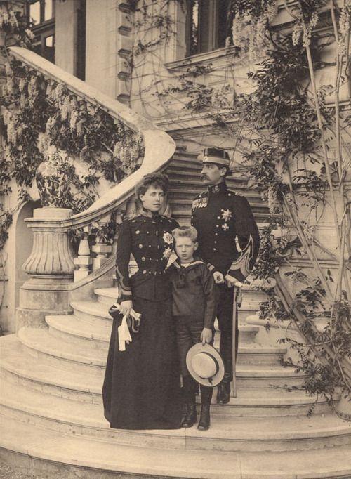 Crown Prince and Crown Princess of Romania and Prince Carol of Romania.