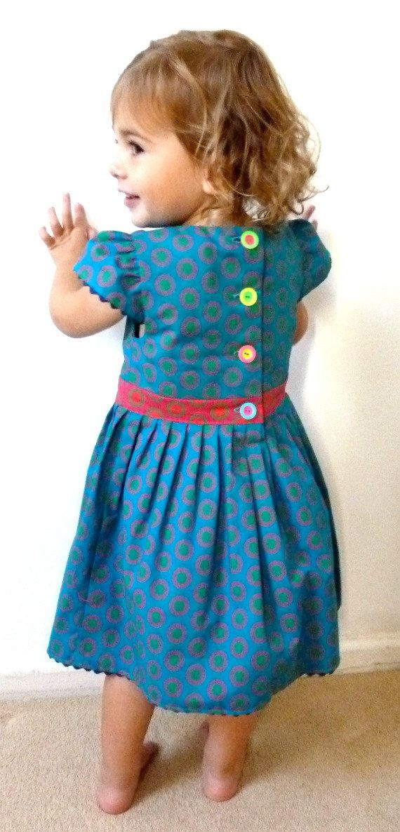 Blue Shweshwe Dress Hand Made in South Africa by MathildeAndCo, £25.00