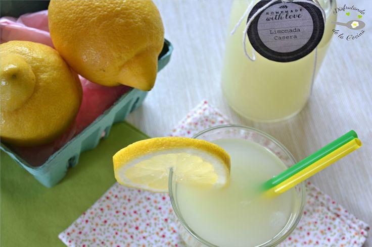 Deliciosa receta de limonada casera del blog Disfrutando de la Cocina.